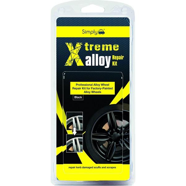 Simply Xtreme Alloy Wheels Repair Kit Kerb Damaged Scuffs & Scrapes - Black