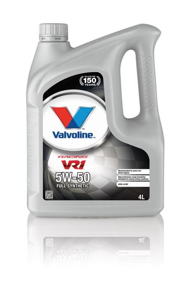 Valvoline 873434 VR1 Racing SAE 5W-50 Ford GM Koenigsegg Car Engine Oil 4l