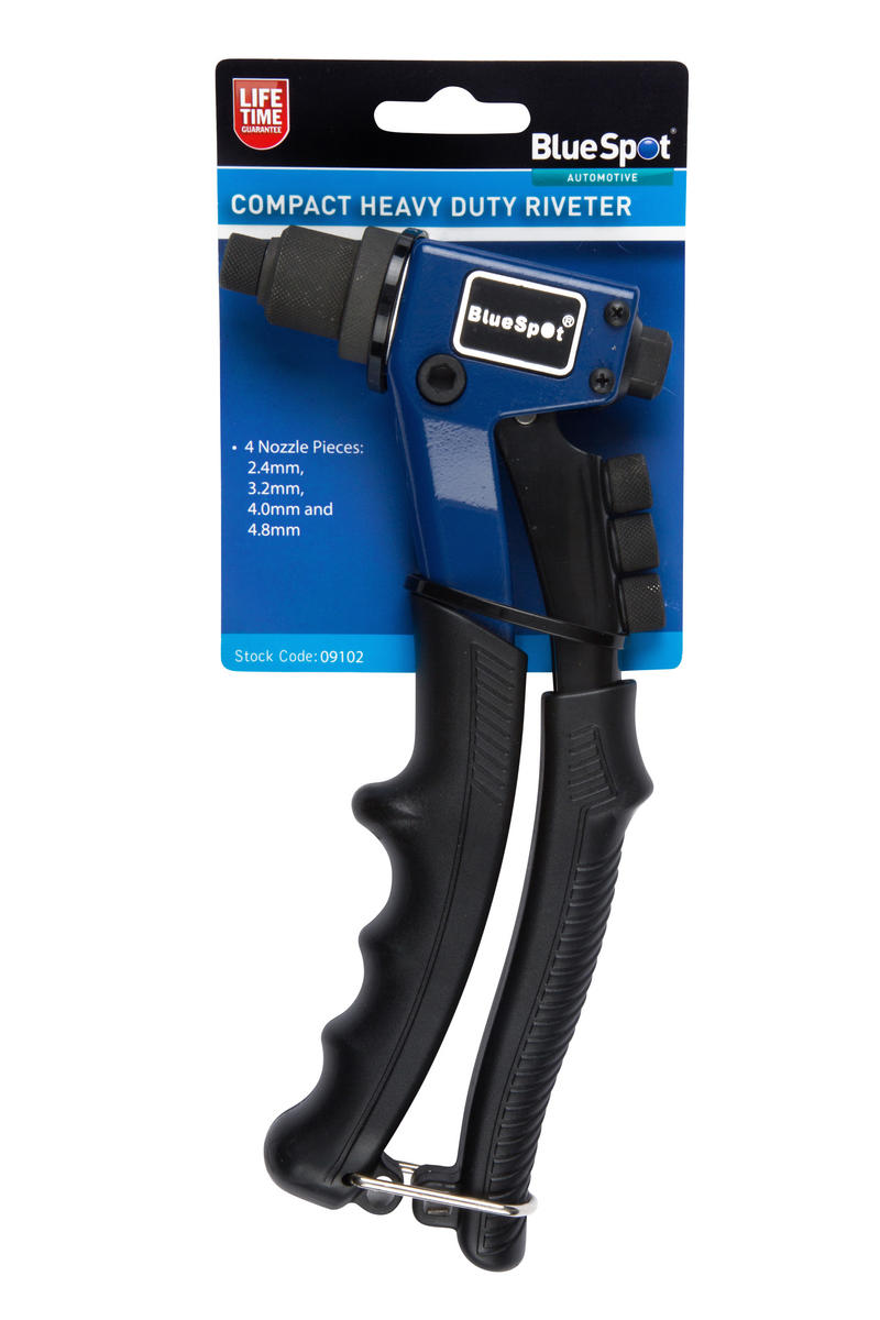"Blue Spot 09102 Automotive Garage 8"" Inch Compact Heavy Duty Riveter Gun Single"