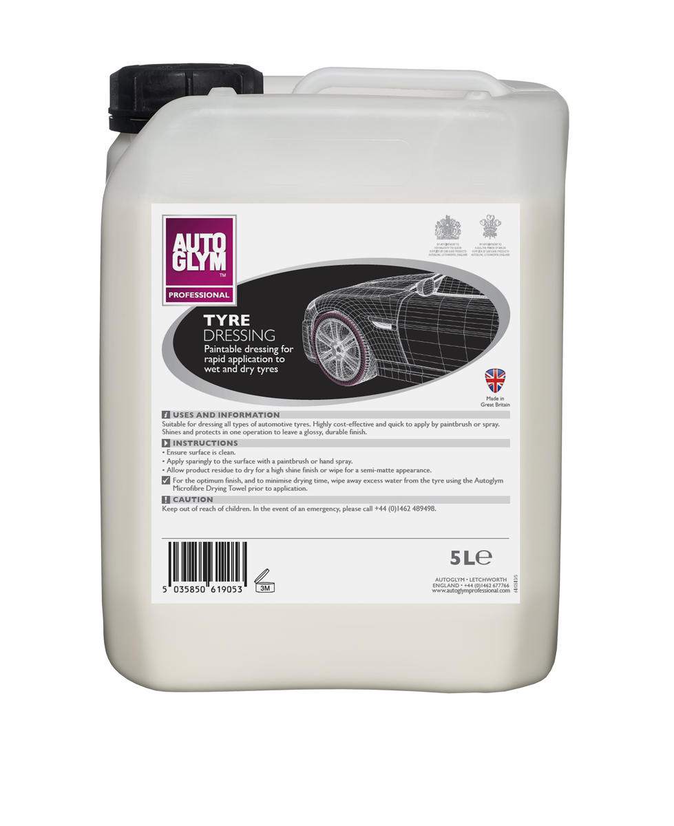 Autoglym 5 Litre Car Cleaning Detailing Deep Tyre Dressing