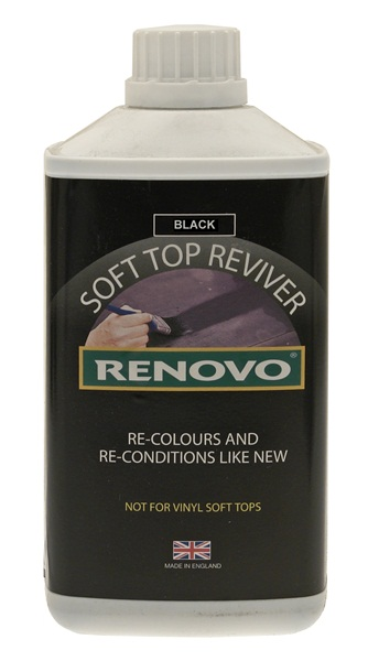 Renovo RHRBLA5001115 Car Cleaning Detailing Renovo Soft Top Reviver Black