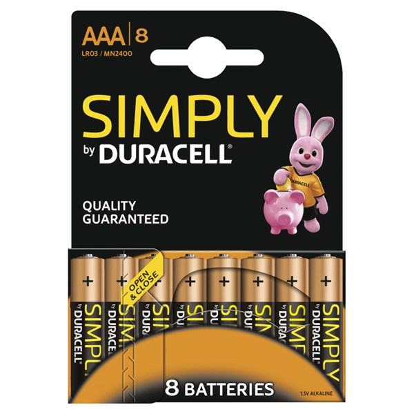 Duracell S6772 8 Pack Simply Duracell AAA Batteries