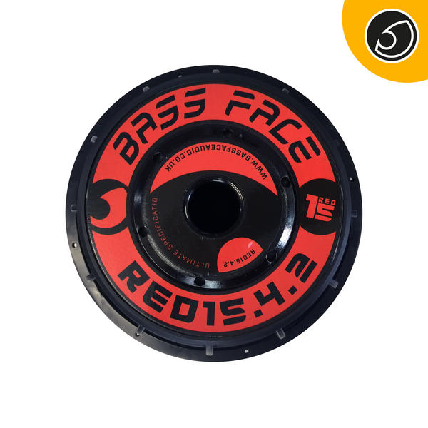 "Bassface RED15.4 15"" Inch 38cm 2x2Ohm DVC Pro SPL SQ Series Subwoofer 2500w RMS Thumbnail 4"