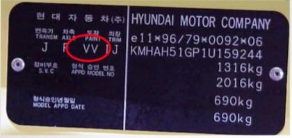 Custom Vehicle 500ml Trade Pot Paint For Hyundai Cars Thumbnail 2