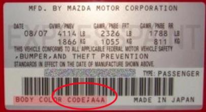 Custom Vehicle 500ml Trade Pot Paint For Mazda Cars Thumbnail 2