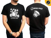 Bassface BFTDJ.1L DJ Style Car Audio XPL Promotional Tee Shirt Large Size