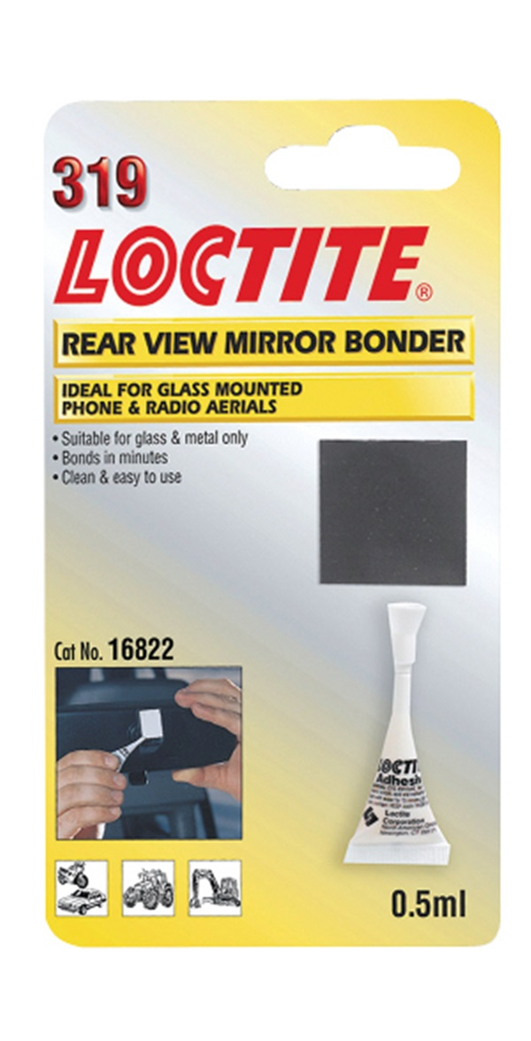 Loctite 194088 Car Van Motoring Rear View Mirror Bonder Single 0.5ml