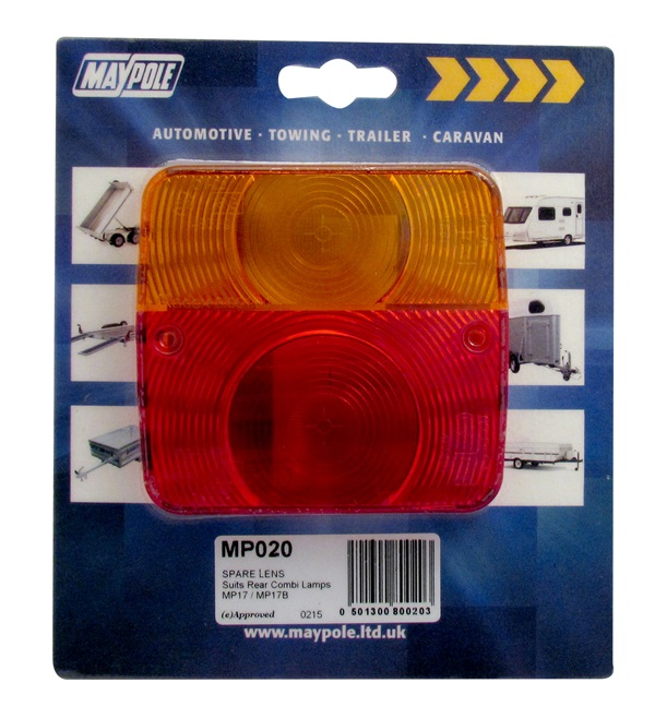 Maypole MP020 Trailer Towing Automotive Spare Lamp Lens