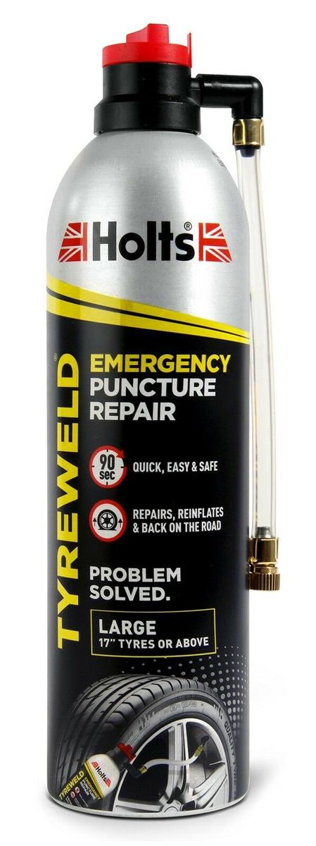 """Holts Tyre Weld & Emergency Puncture Repair 500ml - Large 17"""" Tyres & Bigger"""