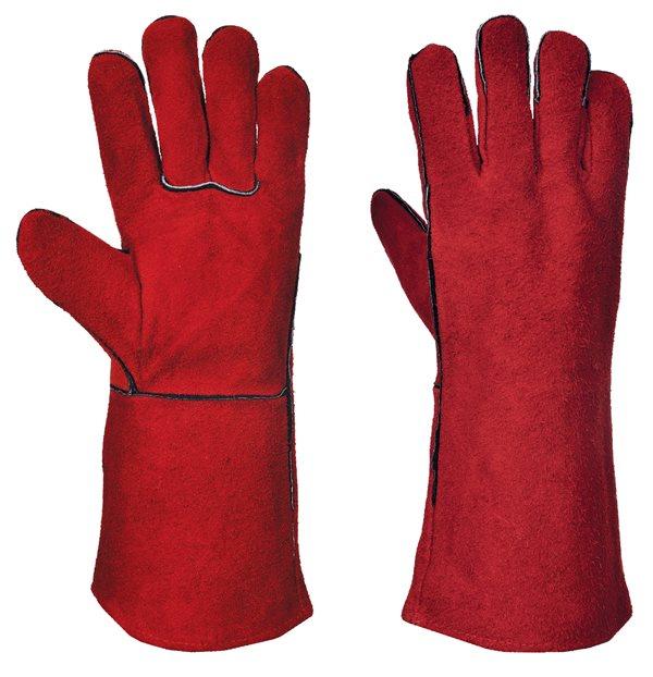 Portswest A500RERXL Red Welders Welding Safety Gauntlet Gloves Large Single