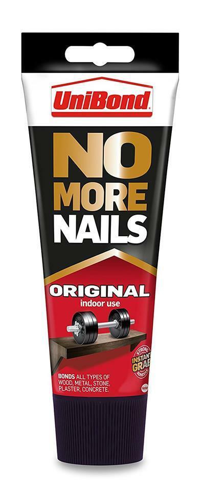 UniBond No More Nails Original Tube Instant Grab Strong Adhesive - 200 ml