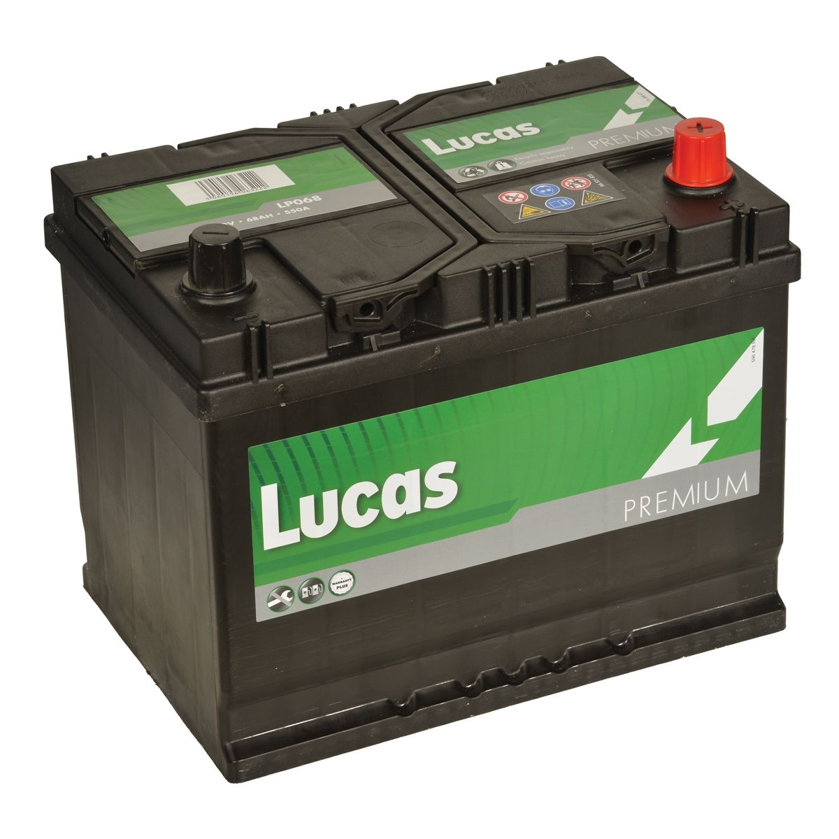 Lucas LP068 Hyundai Nissan Toyota 12v Volt 68Ah 540CCA 068 4 Year Car Battery