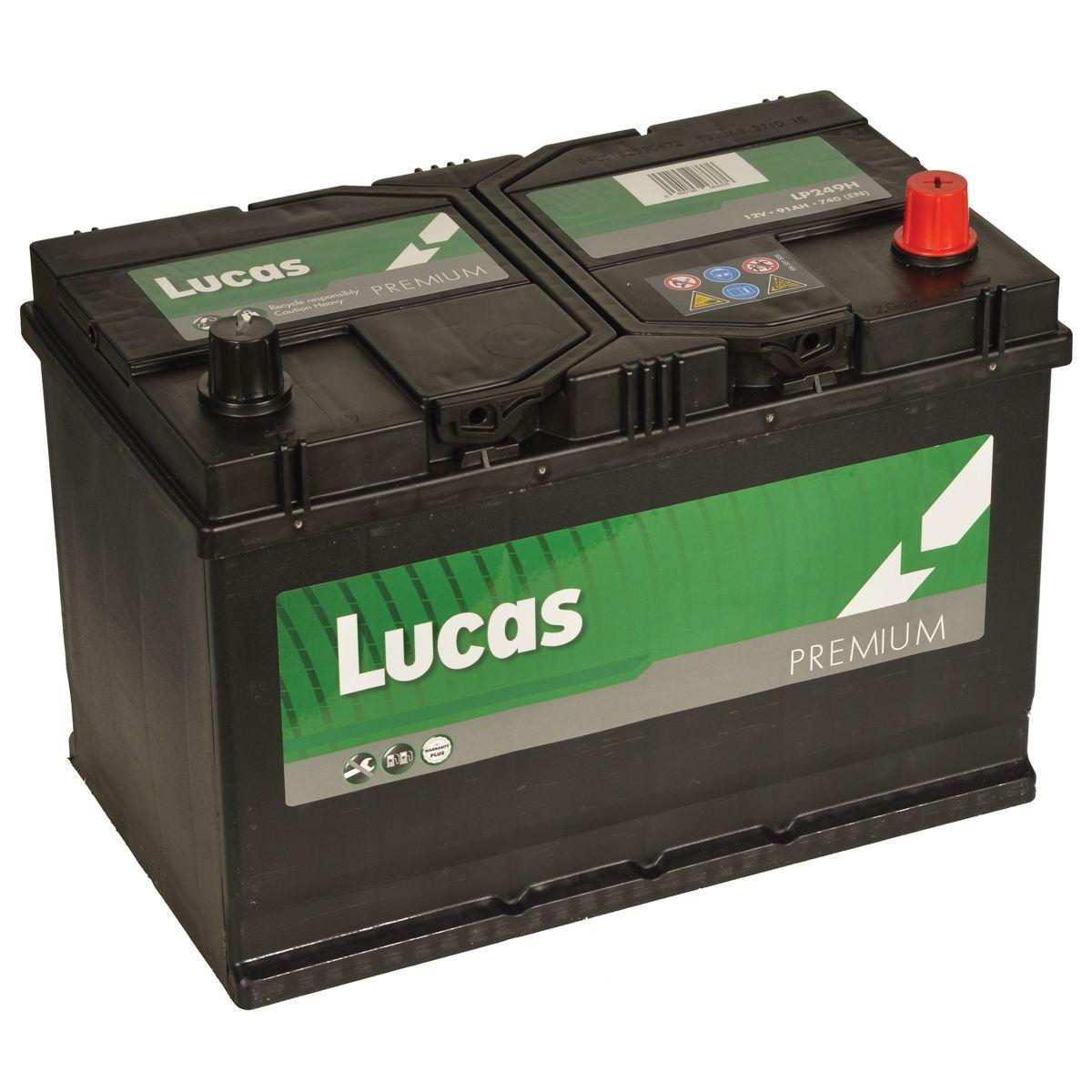 Lucas LP249 Nissan Toyota Mazda 12v Volt 91Ah 760CCA 249 4 Year Car Battery