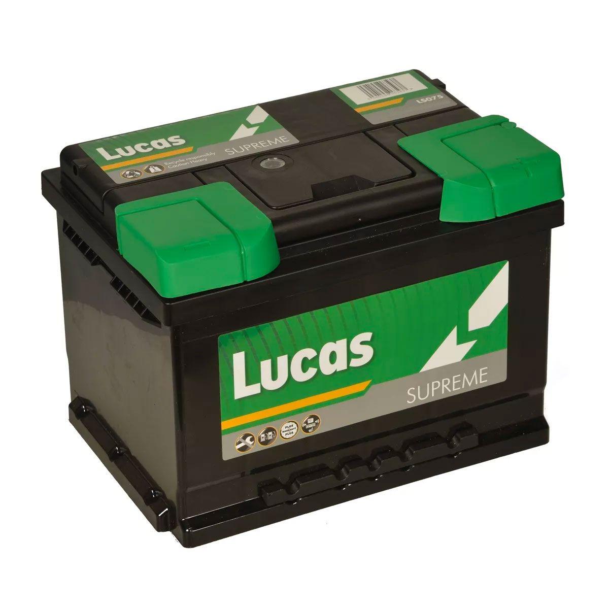 Lucas LS075 Audi Ford Vaux BMW VW 12v Volt 62Ah 600CCA 075 5 Year Car Battery