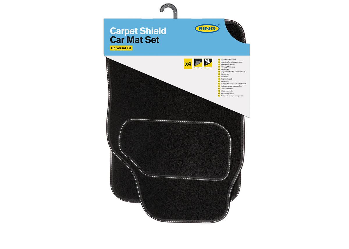 Ring Automotive RMAT29  High Quality Luxury Heavy Wear Quality Black Carpet Mats