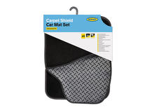 Ring Automotive RMAT31 Interior High Quality Black Carpet PVC Mats Set of 4