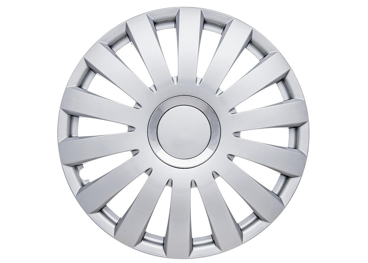"Nelux 14"" Car Wheel Trims Hub Caps Plastic Covers Set of 4 Silver Universal"