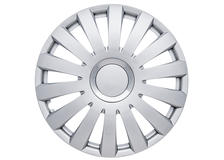 "Nelux 14"" Car Wheel Trims Hub Caps Plastic Covers Set of 4 Silver Universal"