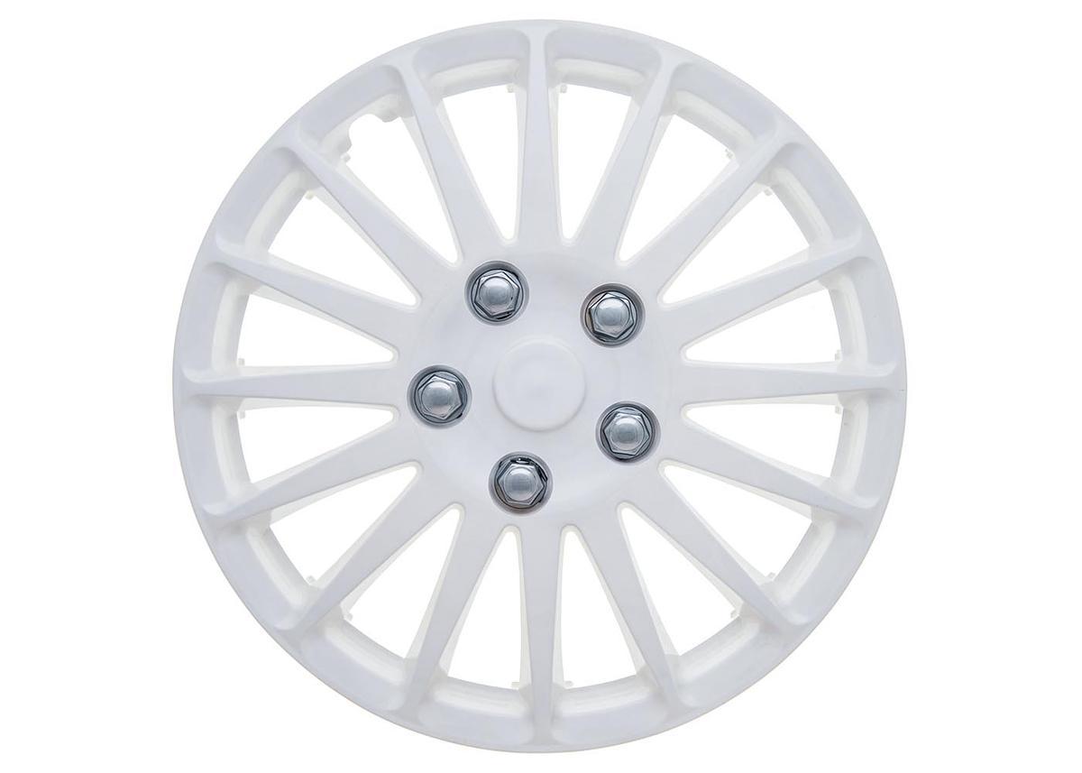 "Polar 14"" Car Wheel Trims Hub Caps Plastic Covers Set of 4 Silver Universal"