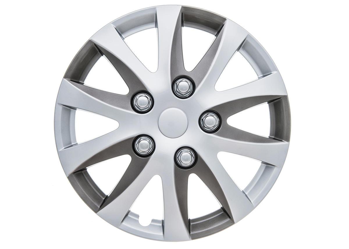 "Enbossa 14"" Car Wheel Trims Hub Caps Plastic Covers Set of 4 Silver Universal"