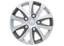 "Enbossa 14"" Car Wheel Trims Hub Caps Plastic Covers Set of 4 Silver Universal"
