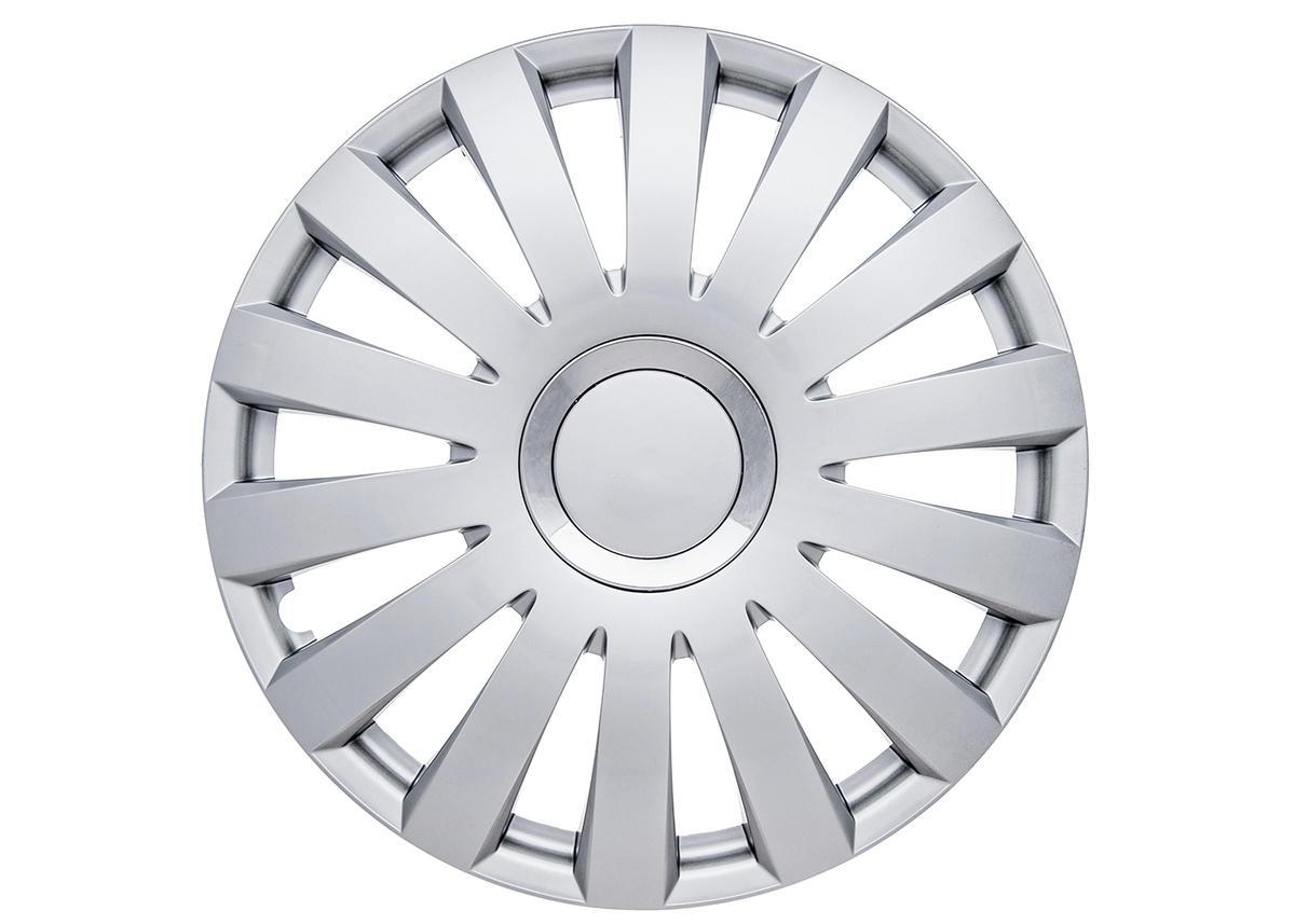 "Nelux 15"" Car Wheel Trims Hub Caps Plastic Covers Set of 4 Silver Universal"