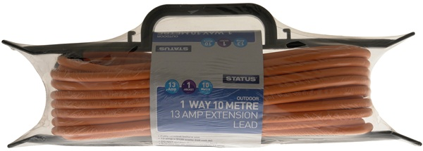 Status S13A10MTHF4 10M Meter 1 Way Heavy Duty Extension Socket Single