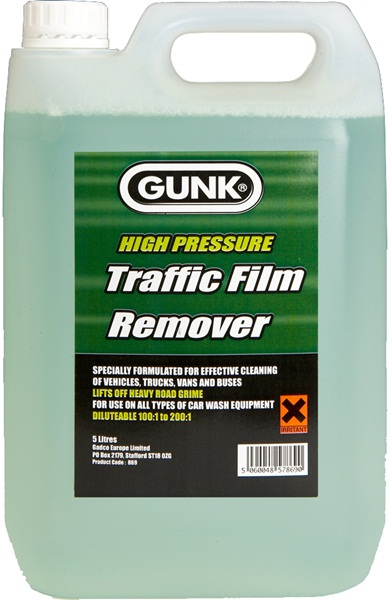 Gunk 869 Automotive High Pressure TFR Traffic Film Remover Single 5 Litre
