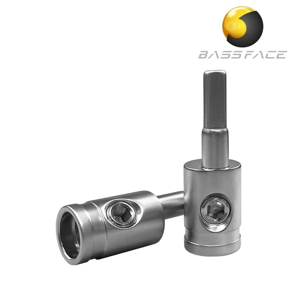 Bassface CON4.1 4AWG to 8/10AWG Amplifier Cable Terminator Connector x2