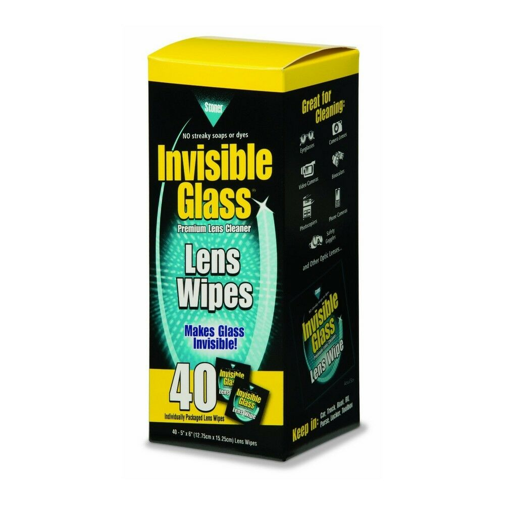 Stoner ST-LEW Invibile Glass Crystal Clear Handy Car Office Handy Wipes 40 Pack