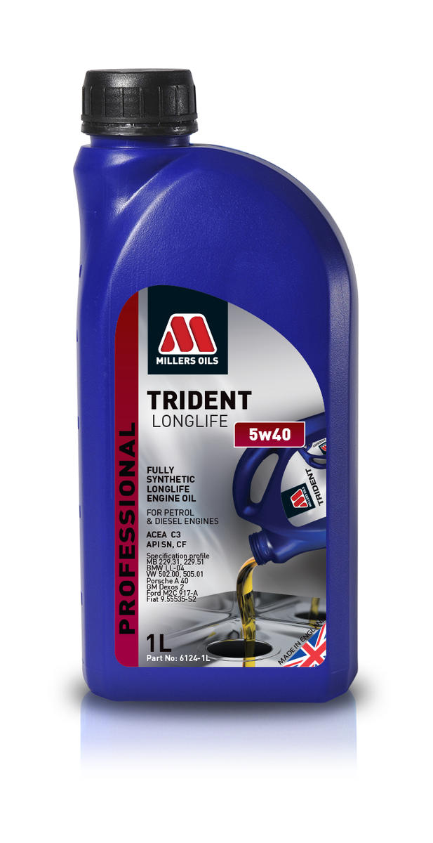 Millers Oil 6124JM Fully Synthetic 5W40 Petrol Diesel 1 Litre Engine Oil