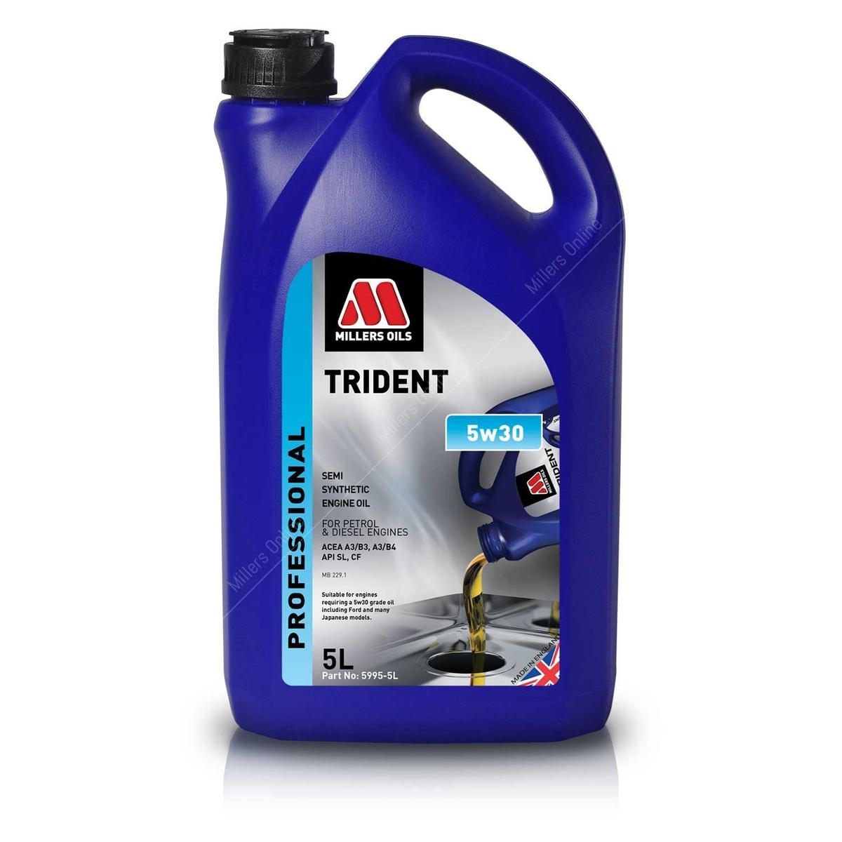 Millers Oil 5995GO Semi Synthetic 5W30 Ford Japanese models 5 Litre Engine Oil