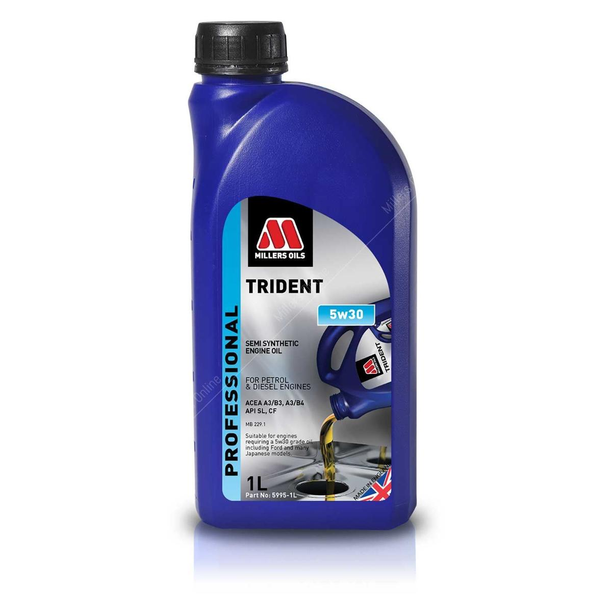 Millers Oil 5995JM Semi Synthetic 5W30 Ford Japanese models 1 Litre Engine Oil