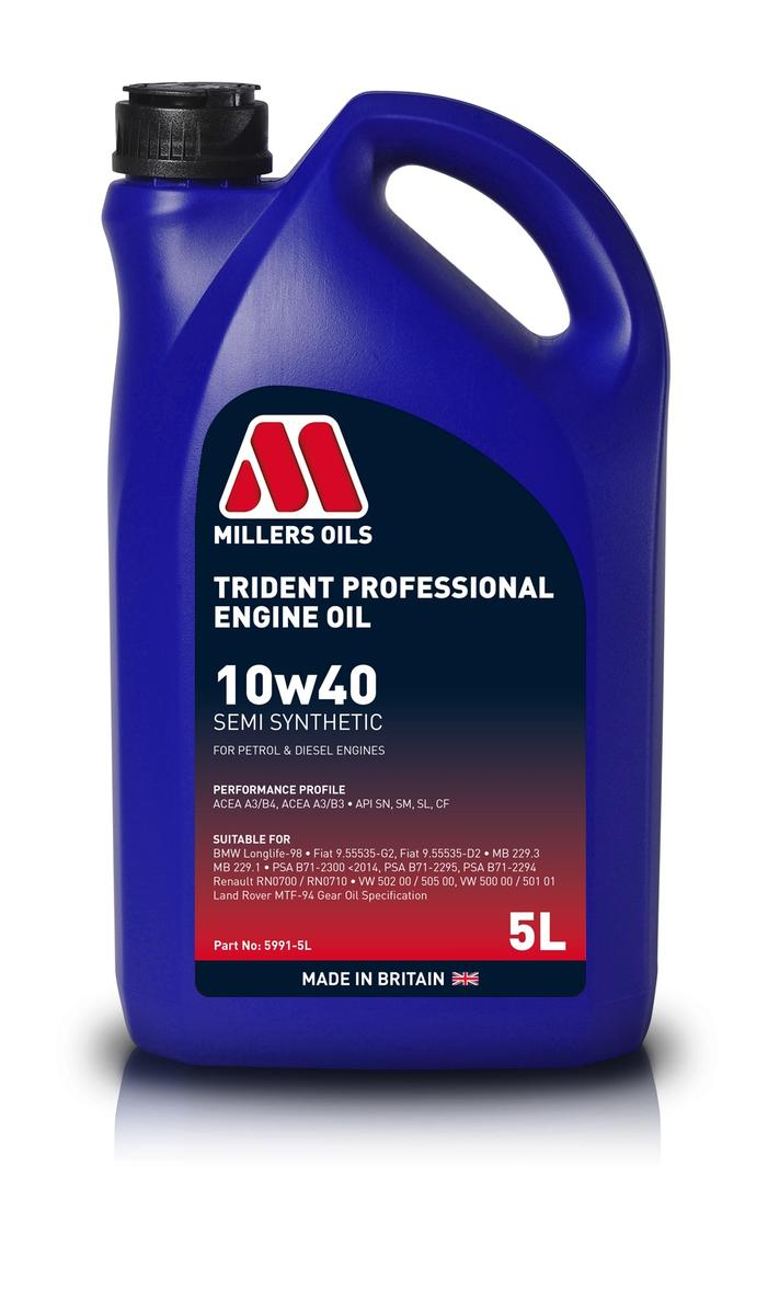 Millers Oil 5991GO Semi Synthetic 10W40 Turbo Charged 5 Litre Engine Oil