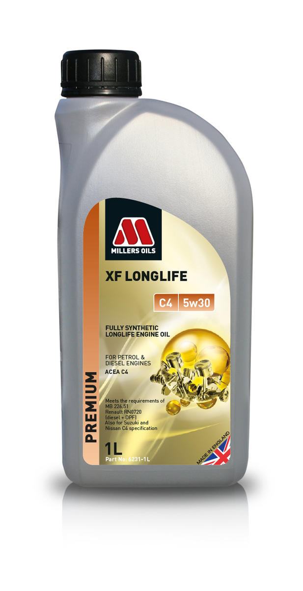 Millers Oil 6231JE Fully Synthetic C4 5W30 Renault Diesel DPF 1 Litre Engine Oil