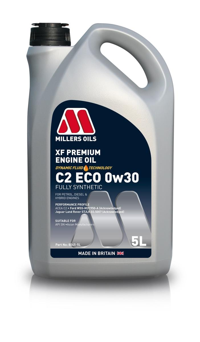 Millers Oil 8045GG Fully Synthetic 0W30 Ford High Performance 5 Litre Engine Oil