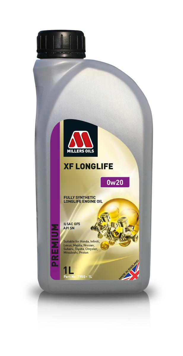 Millers Oil 7950JE Fully Synthetic 0W20 Lexus Suzuki Toyota 1 Litre Engine Oil