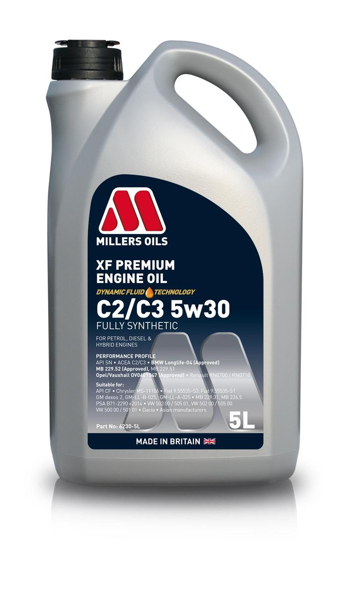 Millers Oil 6230GG Fully Synthetic C3 5W30 Mercedes-Benz BMW 5 Litre Engine Oil