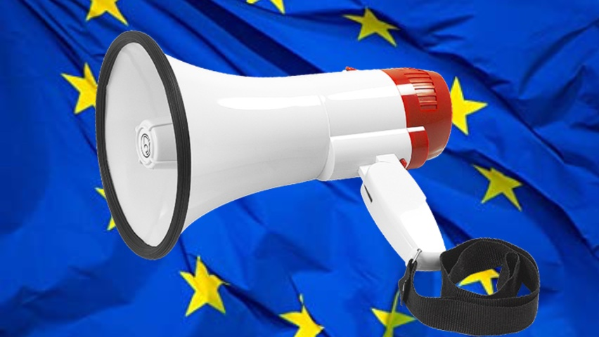 Bassface MP1.1 Have Your Voice Deal Brexit EU Portable Megaphone Loud Speaker