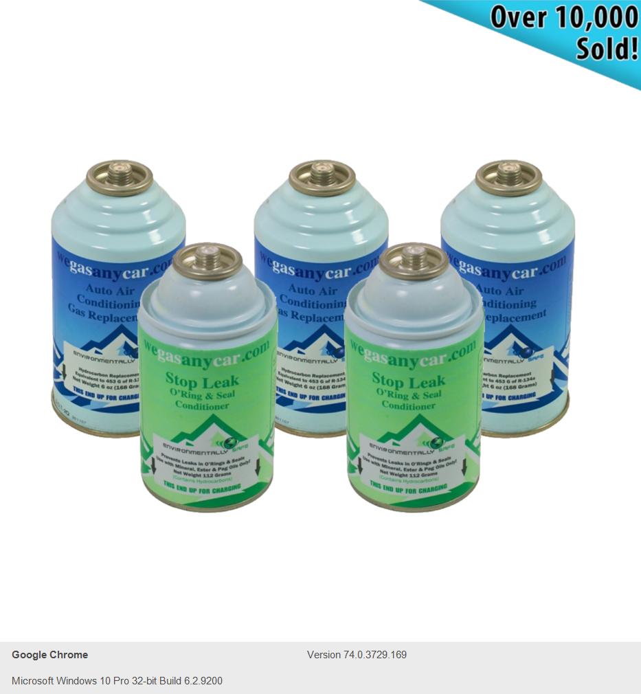 Car Aircon Air Con 3 Top Up 2 Leak Stppper Recharge Refill Regas DIY Gas  Cans