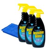 3 x Stoner ST-IGO Invisible Glass Car Van Crystal Clear Windscreen Cleaner and Glass Cloth
