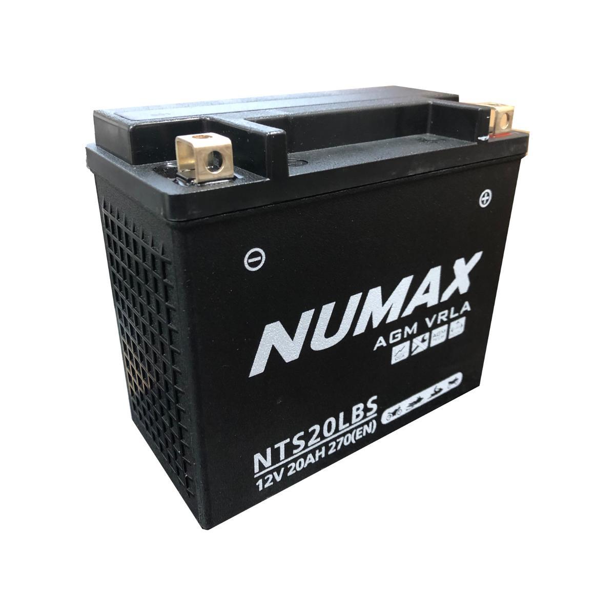 Numax NTS20LBS 12v Motorbike Motorcycle Bike Battery Replaces YTX20L-BS YTX20L-4