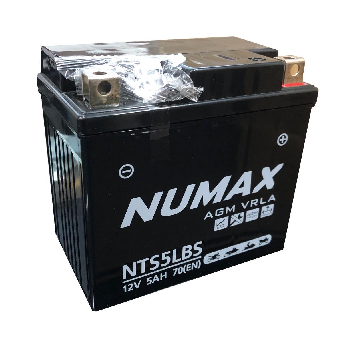 Numax 12v NTS5LBS Motorbike Motorcycle Bike Battery Replaces YTX5-LBS YTX5L-4