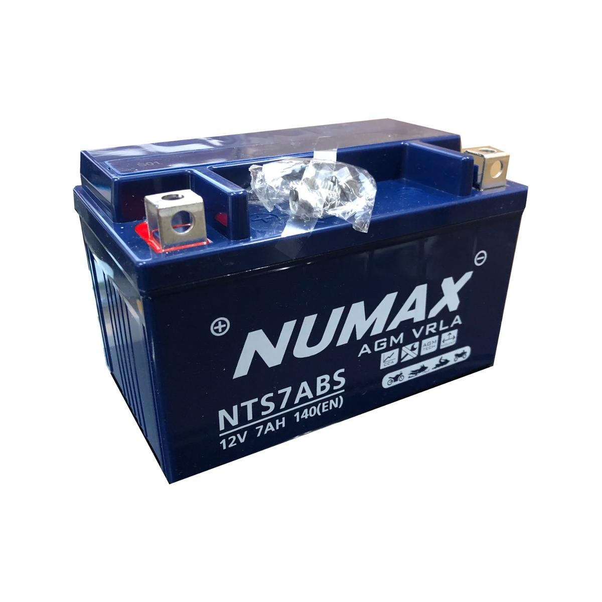 Numax NTS7ABS 12v Motorbike Bike Battery Replaces YTX7A-4 YTX7A-BS YTX7A-B2