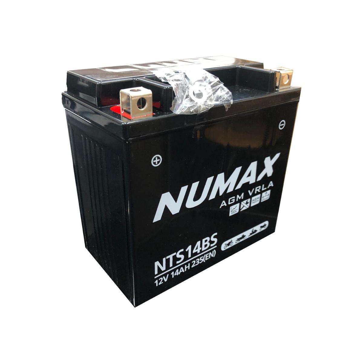 Numax NTS14BS 12v Motorbike Bike Battery KAWASAKI 1100cc ZZR1100EU YTX14-4