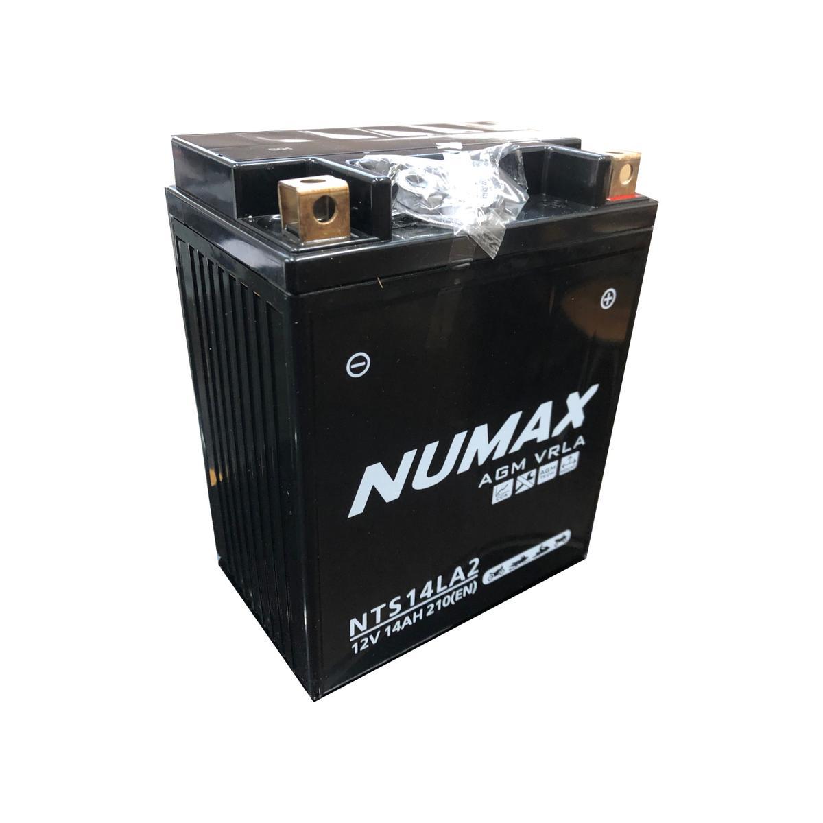 Numax NTS14LA2 MotorBike Motorcycle Battery LAVERDA 650cc Strike YB14L-A2