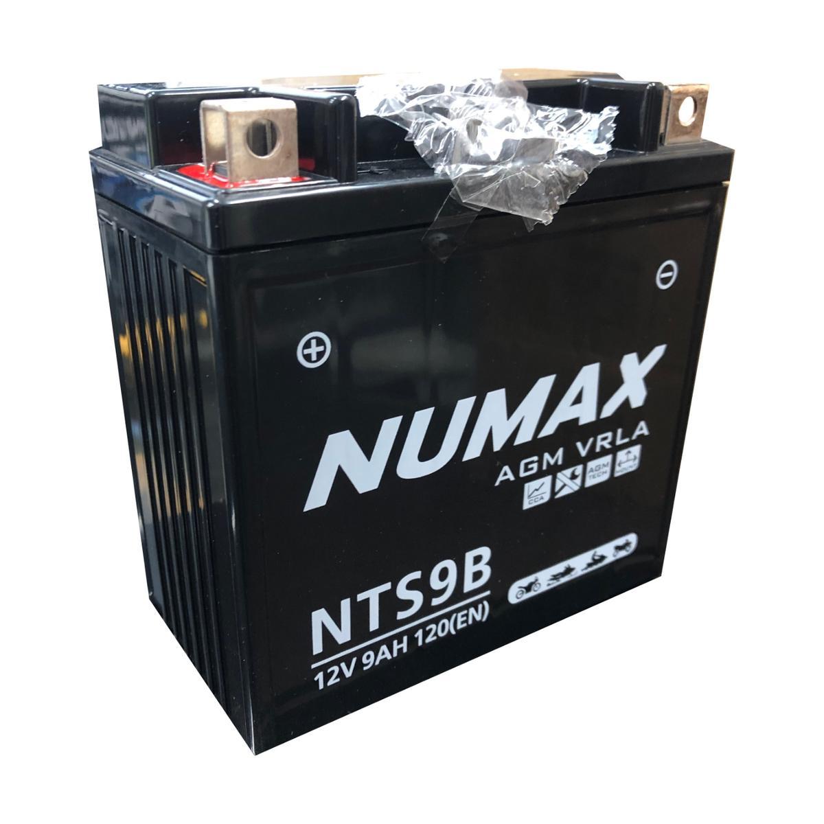 Numax NTS9B 12v Bike Motorbike Motorcycle Battery VESPA 125cc Hexagon YB9L-B