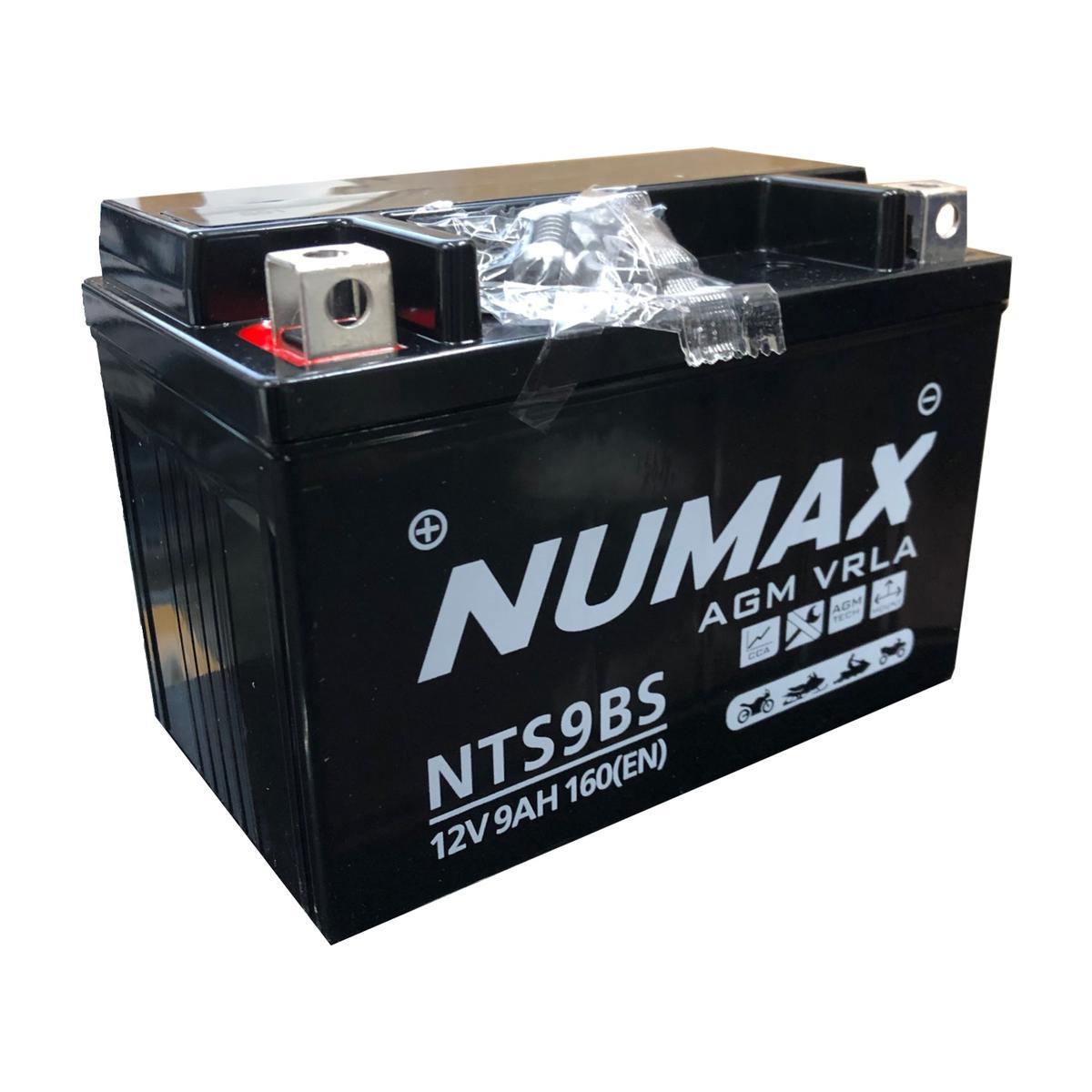 Numax NTS9BS 12v Motorbike Bike Battery KAWASAKI 600cc ZX 6R YXT9B-4