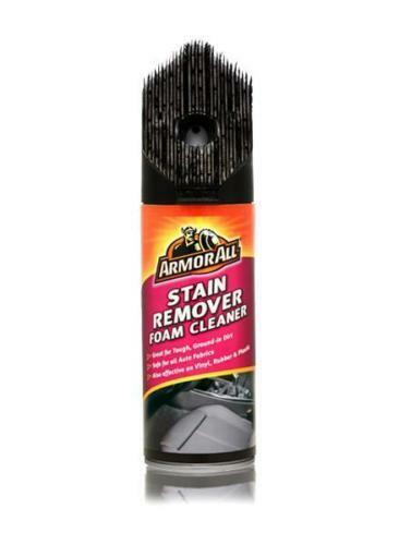 Armor All Car Auto Stain Remover Foam Fabric & Upholstery Cleaner With Brush