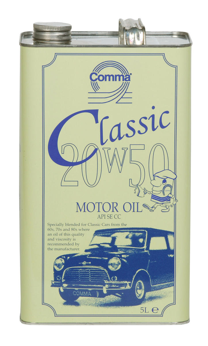Comma Classic 20W-50 5 Litre Multigrade Motor Oil 20W50 5L Cla20505L Old Engines